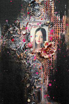 13arts: Canvas by Kate fm Marta Lapkowska (Maremi's Small Art) - Inspirational Mixed Media on PINTREST