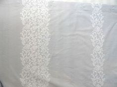 New Simply Shabby Chic Floral Scroll Shower Curtain Gray/White | eBay