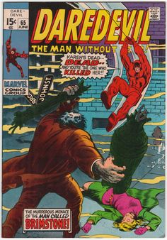 Daredevil #65 VF, Gene Colan artwork, First Brother Brimstone. Marie Severin cover art. $18.50