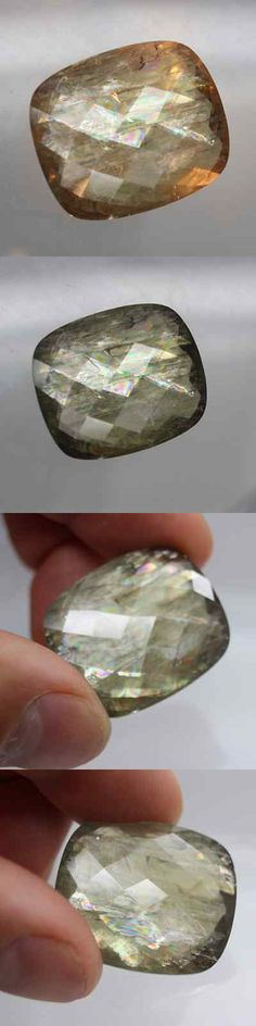 Diaspore 164392: 73.70 Ct.Best Color! Natural Nice Cut Color Change Green Diaspore 28X23x8 Mm -> BUY IT NOW ONLY: $299.99 on eBay!