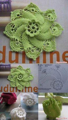 Elegant crochet patterns of flowers free crochet flower patterns RICSLDT Crochet Leaves, Crochet Motifs, Crochet Chart, Crochet Squares, Thread Crochet, Crochet Doilies, Crochet Stitches, Crochet Flower Tutorial, Crochet Flower Patterns