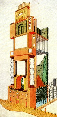 Archive of Affinities Judith Di Maio, Late Entry to the Chicago Tribune Tower Competition, 1980
