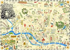 Berlin in a map by Natascha Rosenberg
