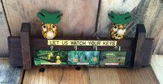 Vintage 1980s Key Minder - Queensland Australia Pineapple Plantation / Animal Farm / Sugar Cane Train / Kitsch Key Holder by V1NTA6EJO