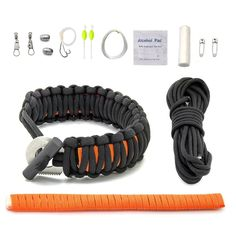 Paracord survival bracelets are great for any prepper – plus it has a ton of uses. Check out 17 ways how to make different paracord bracelet patterns. Survival Items, Survival Tools, Wilderness Survival, Survival Prepping, Survival Gadgets, Survival Hacks, Paracord Bracelet Survival, 550 Paracord, Paracord Bracelets