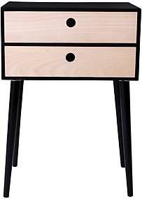 Noční stolek ze dřeva pavlovnie s černým rámem House Nordic Rimini Nightstand, Table, House, Furniture, Home Decor, Decoration Home, Home, Room Decor, Night Stand