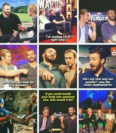 Bromance Chris Evans and Chris Hemsworth