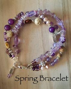 Amethyst, mop, crystal bracelet  Christabeljones