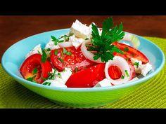 Najsmaczniejsza sałatka z pomidorami i serem feta!| Smaczny.TV - YouTube Salade Caprese, Queso, Food And Drink, Apple Vinegar, Entrees, Tasty, Salads, Food, Healthy Recipes