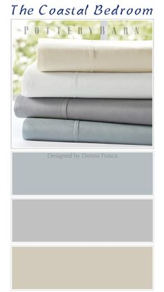 Beautiful color inspiration for that coastal bedroom