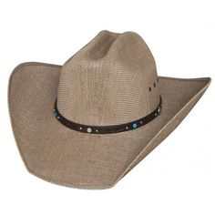 8790f80819a Bullhide Cowboy Hat NRA Country 50X Jute Straw Cowboy Hat JUSTIN MOORE  COLLECTION Western Hats