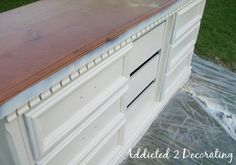 How to Paint, Distress and Antique a Piece Of Furniture