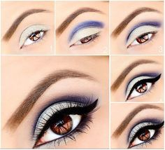 Silver and blue Eye Makeup Tutorial