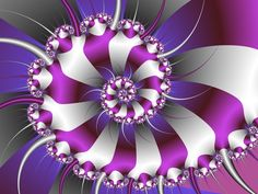 Snail Shell Purple & White Fractal