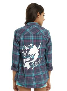 Disney The Little Mermaid Part Of Your World Plaid Girls Woven | $31.60