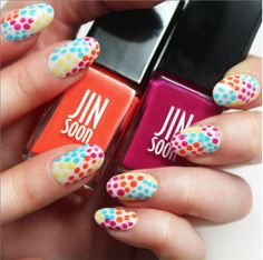 Summer speckled nails by #JINsoon on the #Sephora Beauty Board