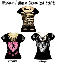 Customized Fitness t-shirts great for Cardio work outs, Dance, aerobics,pilates motivational quoates,sexy backs,hip hop, regular & Plus size