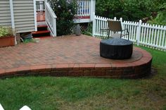 Since our backyard has a slope, this looks like a great idea to create a level brick patio.
