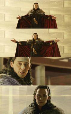 "Tom Hiddleston ""Loki"" Loki's coronation in Thor : The Dark World (deleted scene) Watch it here https://www.youtube.com/watch?v=u_iOTgLoru0 Images from http://www.weibo.com/torilla"