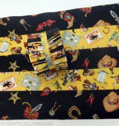 """COWBOY UP Jelly Roll Cotton Fabric Quilting 20 2.5"""" Strips PATCHWORK STASH"""