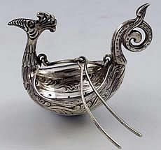 Rare Moller Norwegian teapot spout strainer - how awesome!