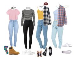 90s School Outfits by stellaluna899 on Polyvore featuring Madewell, Miss Selfridge, River Island, Topshop, J Brand, American Apparel, Living Royal, Timberland, Vans and JuJu