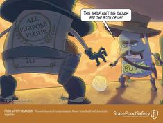 This fun cartoon will help you remember proper safety tips with cleaning chemicals! Food Safety, Safety Tips, Safety Cartoon, Cleaning Chemicals, Cool Cartoons, Fun, Food Security, Hilarious