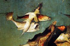 Hieronymus-Jérôme Bosch - Primitif Flamand - Les Tentations de Saint Antoine, detail.