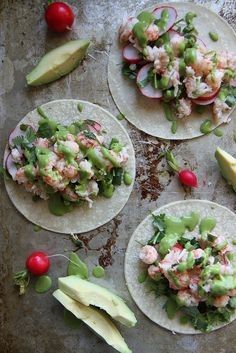Lobster Tacos with Cilantro Green Onion Sauce