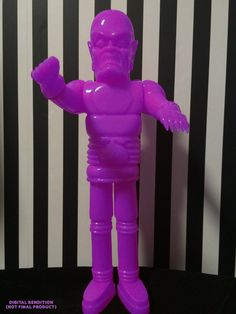 """Miscreation Toys's """"The Iron Monster"""" in unpainted purple edition!"""