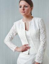 Blazer Jacke für die Braut aus Taft und Spitze