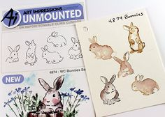 Swatching Art Impressions Watercolor Sets If you're an addict like me – you have a lot of tiny cling stamps in your stash! I'm up to 8 of the Stampin Up plastic cases full of them…