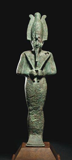 A LARGE EGYPTIAN BRONZE OSIRIS   THIRD INTERMEDIATE PERIOD, DYNASTY XXV, CIRCA 747-656 B.C.