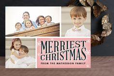 Retro Snowflakes Christmas photo card by Hooray Creative (on minted.com)
