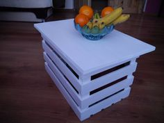 coffe table, box, container, upcycled furniture, white table, upcycled furniture, side table, kid's furniture, handmade table, table, white by CREATEandBe on Etsy