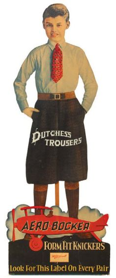 Aero-Bocker Trousers Display | Antique Advertising Value and Price Guide