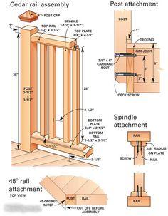 Build Deck Railing See more Deck Railing Ideas http://awoodrailing.com/2014/11/16/100s-of-deck-railing-ideas-designs/