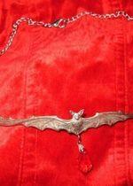 Naszyjnik nietoperz goth victorian kolia wiktoriański
