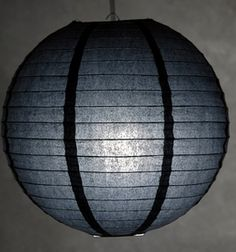 "Paper Lanterns 12"" Black"