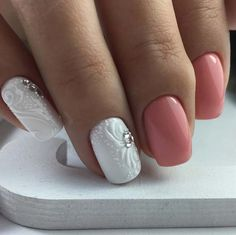 Wedding Nail Art Designs - Flawless White Floral Art - Beautiful And Classy Nailart and Nail Ideas for The Bride and The Bridesmaid that you will Love. These posts contain Ideas For French Manicures, Silver, Blue, Red, Pale Pink, Simple, And Sparkle Nail Ideas. There Are Step By Step Tutorials And Make For Awesome Bling For Weddings, Prom, Graduation, or any Event On The Town - https://www.thegoddess.com/wedding-nail-art-design