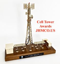 Telecommunications tower awards, gifts, plaques, models and trophies. John H. Martin Company - Since 1937 Tower Climber, Custom Engraving, Tatt, Rigs, Communication, Awards, Industrial, Models, Phone