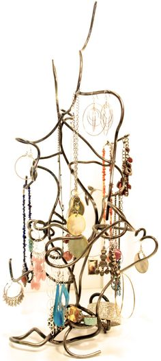 Functional Metal Art Storage for Jewelry 2.A on Etsy, $85.00