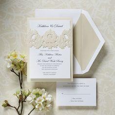 Victorian Damask Wedding Invitation | Exclusively Weddings