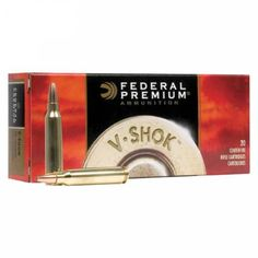 Federal Premium V-Shok Rifle Ammunition  is available at $27.49 USD in The Woodlands TX, 77380.