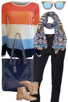 Freedom Stripe #outfitidea #style #stripes #bluebungalow