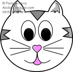 cartoon cat face clipart free clipart