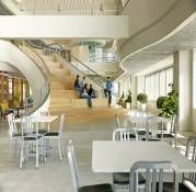 Dont let this pass you by. Timber Stair, Commercial Office Design, Stair Steps, Polished Concrete, New England, Microsoft, Stairs, United States, Outdoor Decor