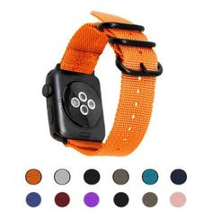 The Sport Nylon Apple Watch Band is a great all purpose band: soft, durable and comfortable to wear. Apple Wrist Watch, Apple Watch Iphone, Apple Watch Bands, Apple Watch Fitness, Mesh Band, Apple Watch Series 2, Stainless Steel Mesh, Cool Watches, Exercise