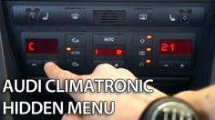 How to enter hidden menu in Climatronic Audi (diagnostic mode, DTC) Audi A6 Avant, Audi A1, Menu, Cars, Sport, Youtube, Menu Board Design, Deporte, Autos