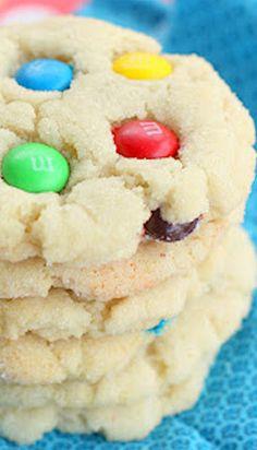 Chewy M&M Sugar Cookies